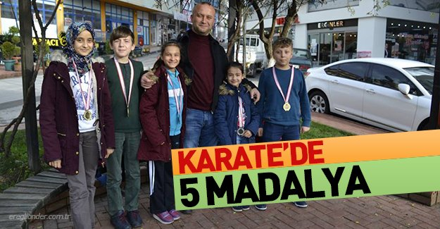 KARATE'DE 5 MADALYA