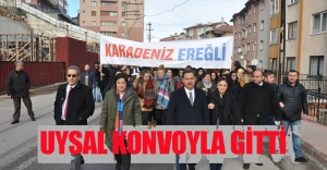 BAZI MECLİS ÜYELERİ DE KONVOYA KATILDI